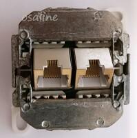 Netzwerkdose Aufputz Cat.5e 100Mbit TC-74250 mit farblicher Markierung