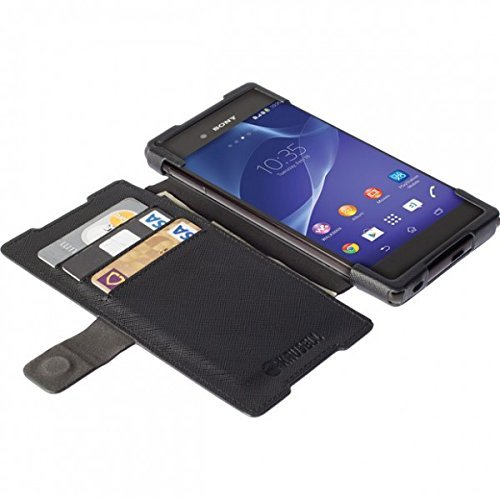 Krusell 60227 Malm Wallet Cover 2in1 schwarz Sony Xperia Z3+ Dual Z4 Magnetisch