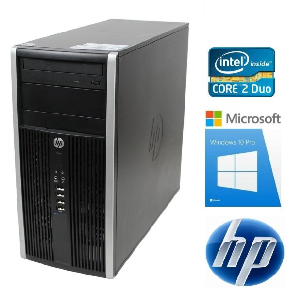 HP Compaq 6000 Pro TWR Computer Intel Core2 Duo 2x2,93 GHz, 4 GB RAM, 500 GB HDD, Windows 10