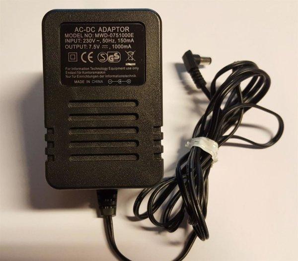 AC Adapter MWD-0751000E / 7,5V 1A