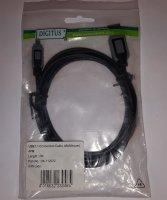 DIGITUS USB Mini Anschlusskabel, A auf B, Premium